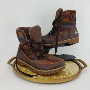 Sorel Tivoli II Winter Snow Rubber Boots Rainbow